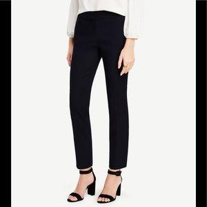 Ann Taylor Devin Fit Straight Leg Black Pants Sz 2